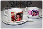 Кофейный набор,  чашка с любым фото,  логотипом на мероприятие,  праздник